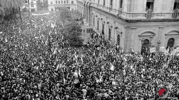 Manifestación 4 diciembre de 1977. Autonomía de Andalucía