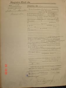 Acta de defunción de Saturnino