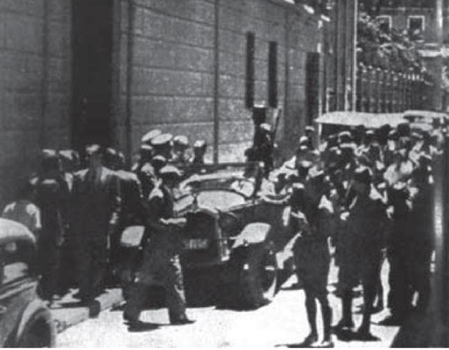 Entrada principal del gobierno civil de Granada el 20-07-1936
