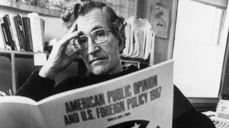 Noam Chomsky imagen Rebeldemule