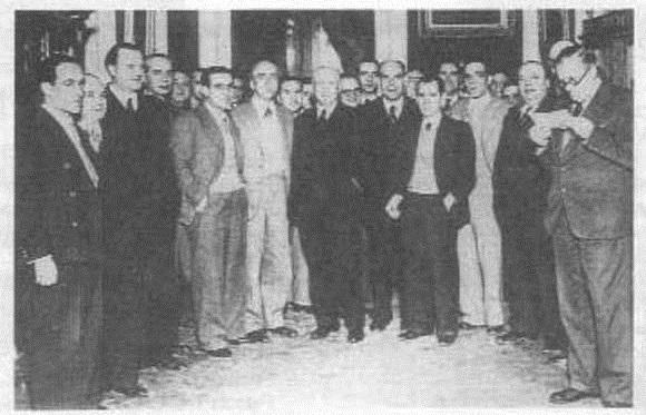 Gobierno de Largo Caballero foto L. Vidal